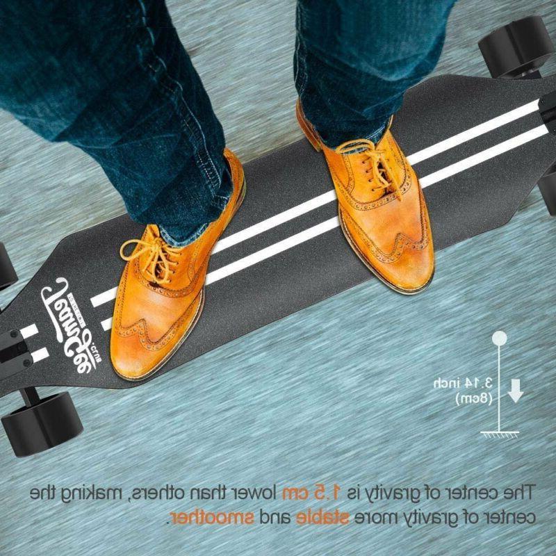"Teamgee H5 37"" Electric Skateboard 22 MPH Top Speed 760W Dua"