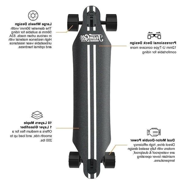 Electric Skateboard,22 Speed,760W Motor,11