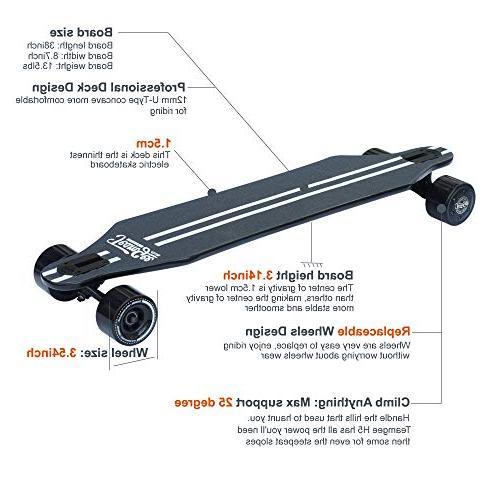 teamgee H5 Cruiser Electric Longboard, Motor 36V Controller Battery
