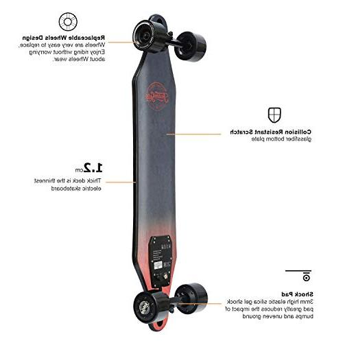 teamgee Skateboard, 22 Top Speed, 11 Range, 14.5 Lbs, Longboard Wireless Remote Control