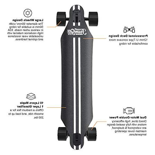 Speed, 760W 11 Range, Lbs, Layers Maple Longboard Wireless Control