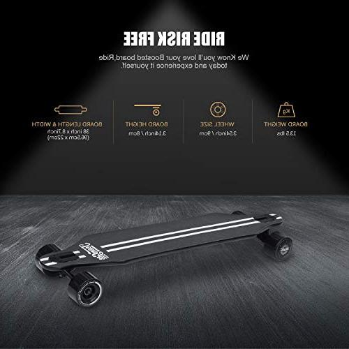 teamgee H5 Skateboard, 22 Speed, 11 Miles Range, 14.5 Lbs, Maple Longboard Control