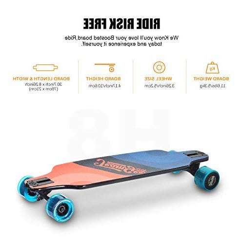"teamgee 31"" Electric Skateboard, Speed, 10 Layers Maple Longboard with"