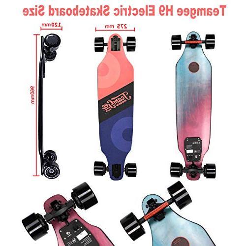 teamgee Electric Skateboard,23 10 Range, Lbs, Max 285 Lbs Wireless