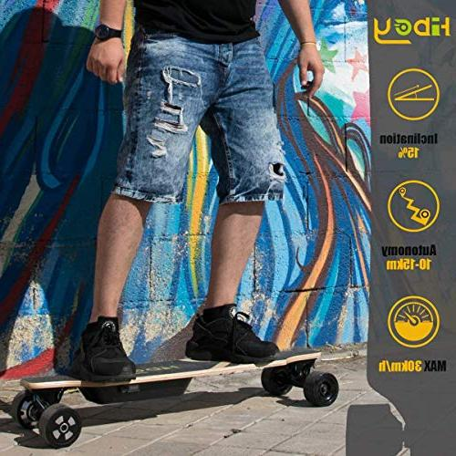 Fitnessclub Hiboy Electric - Motorized Electric Skateboard Control,Max Speed to 18.5MPH