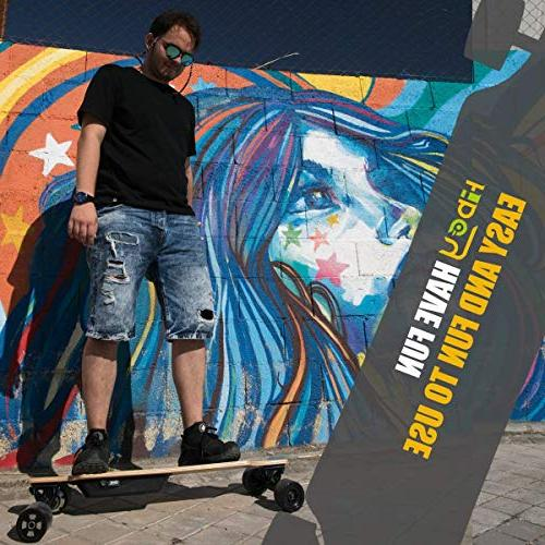 Fitnessclub - Dual Skateboard with Wireless Control,Max up 18.5MPH