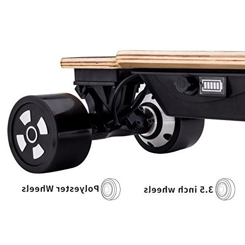 Fitnessclub Hiboy Longboard - Motorized Skateboard with Wireless Remote 18.5MPH