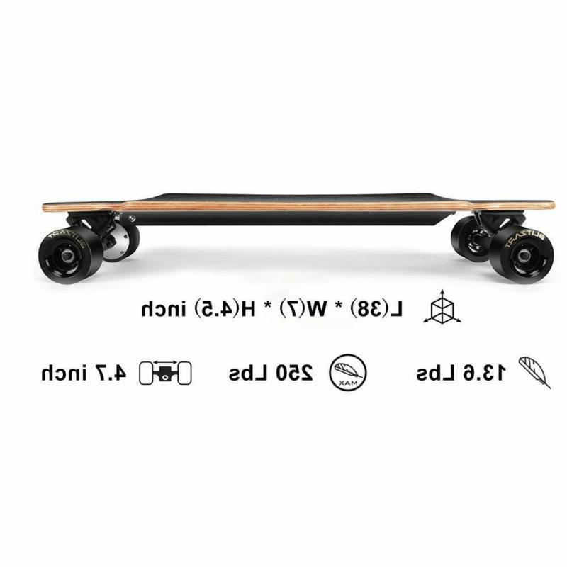 "BLITZART Huracane 38"" Skateboard Electronic Longboard 17mph 350W Hub-Mo"