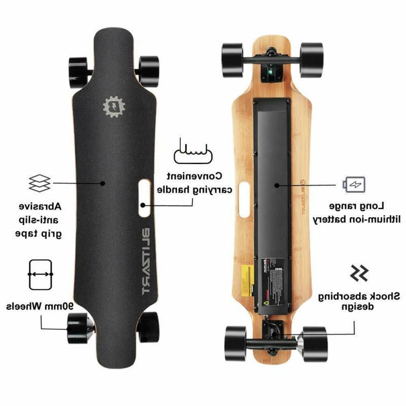 """BLITZART 38"""" Electric Skateboard Electronic Longboard 350W"""