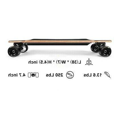 "Blitzart Huracane 38"" Skate/Longboard 350W Hub-Motor Wheels"