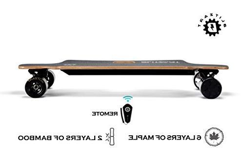 BLITZART Huracane Dual Brushless Electric Skateboard Longboard PU