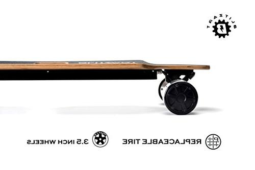 BLITZART Brushless Hub-Motor Electric Longboard PU