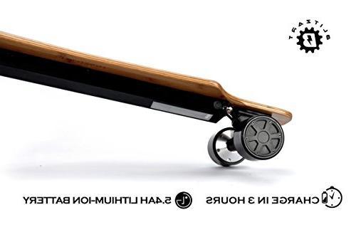 "BLITZART Huracane 38"" Dual Brushless Hub-Motor Electric Longboard Wheels"