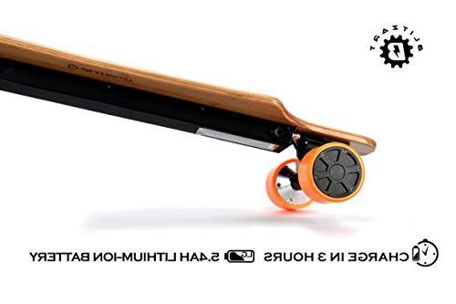 BLITZART Huracane Dual Hub-Motor 700W Longboard Skateboard Wheels