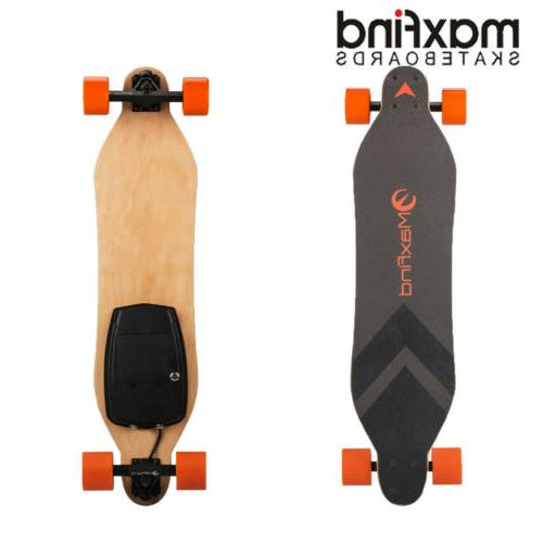 longboard electric skateboard single motor 4 wheels