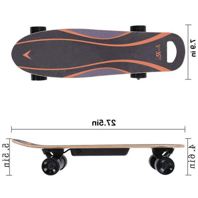 """27"""" Electric Skateboard 350W 3 Speed Wireless Remote Control"""
