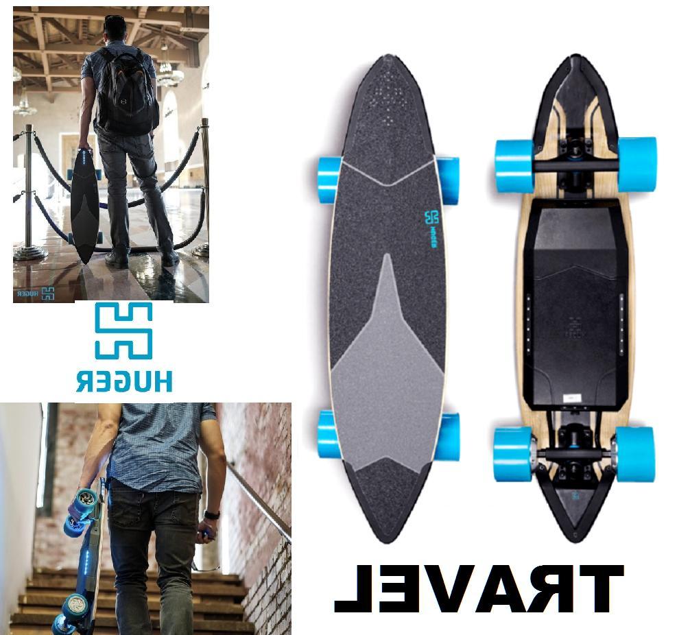 Huger Tech Electric Skateboard bluetooth Speed 20 Range 22Mi