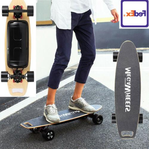 90mm Electric Longboard 800W Dual Hub Motorized Skateboard 4