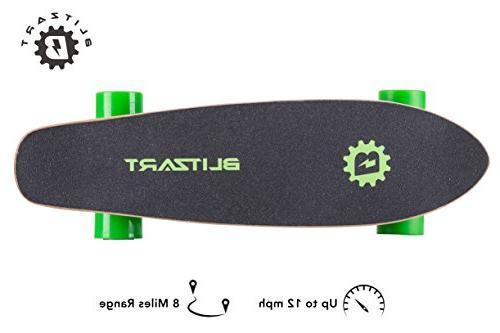 BLITZART Mini Flash Electric Skateboard Range Hub-Motor Wheels
