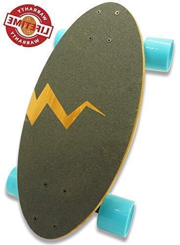 Eggboards Skateboards with Wide Cruiser Deck inch in Bamboo Wood Longboards Wheels