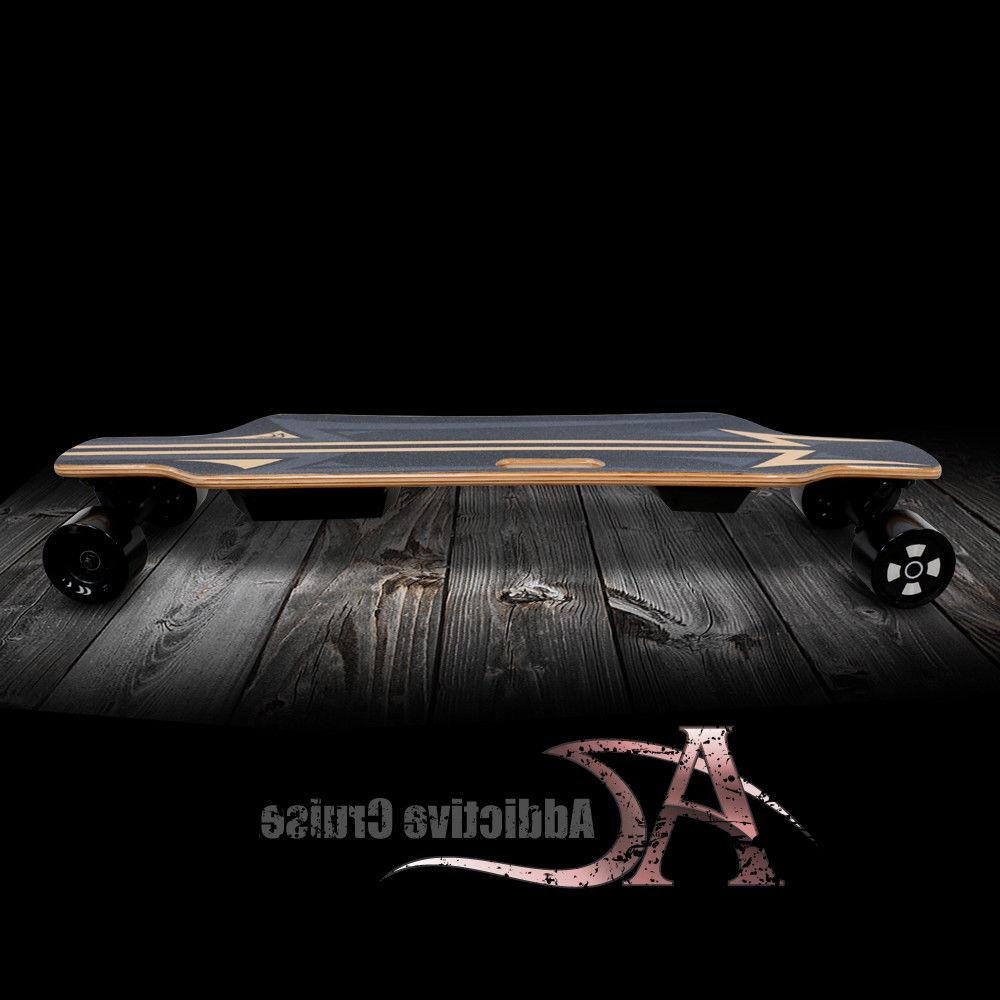 "NEW!Addictive 38"" Skateboard Longboard 3.5"" Hub-Motor 350W"