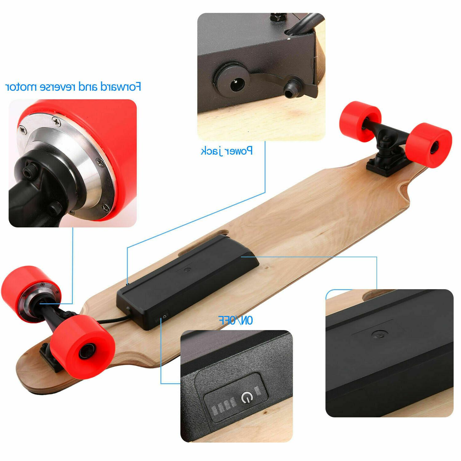 NEW Electric Skateboard with Controller #Red