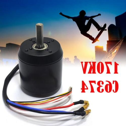 170KV C6374 Efficience Brushless Motor f/ür elektrisches Skateboard Longboard 2900W
