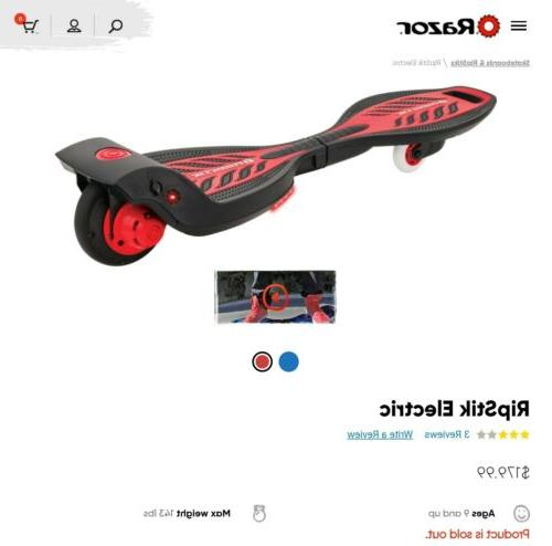 new ripstik electric caster board w led
