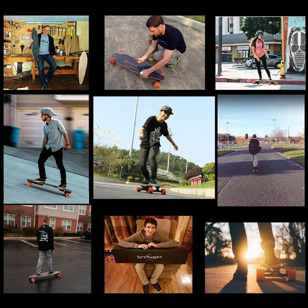 MaxFind 38'' Electric Skateboard Single Longboard