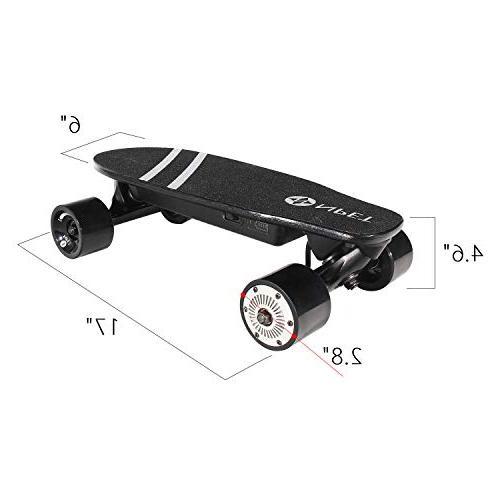 NPET Electric Skateboard with Wireless 12 MPH 7 Mile Range