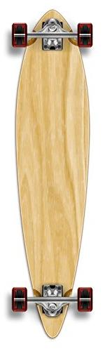 Yocaher Punked Stained Pintail Complete Longboard Skateboard