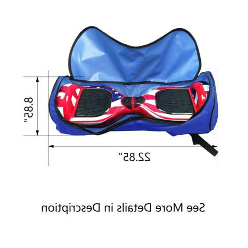 "Scooter Bag for 6.5"" 7"" Two-Wheel Electric Skate Blue"