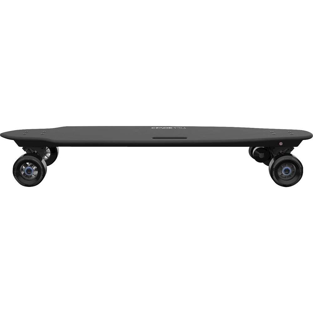 single motor electric skateboard black