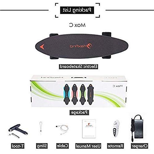"""Maxfind 27"""" 14 500 Waterproof Electric Skateboard with Wireless"""