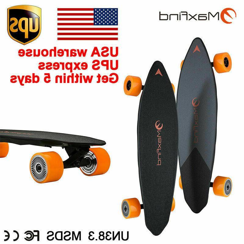 skateboard dual motor electric motorized longboard wireless