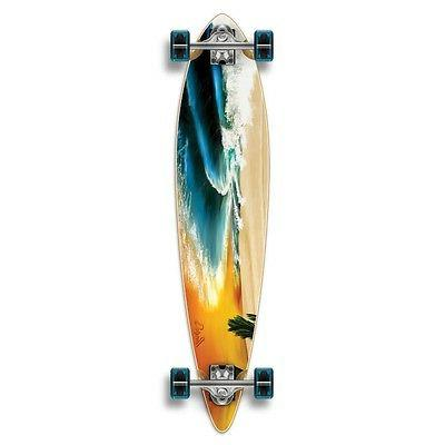 Yocaher Graphic Complete Longboard PINTAIL skateboard w/ 70m