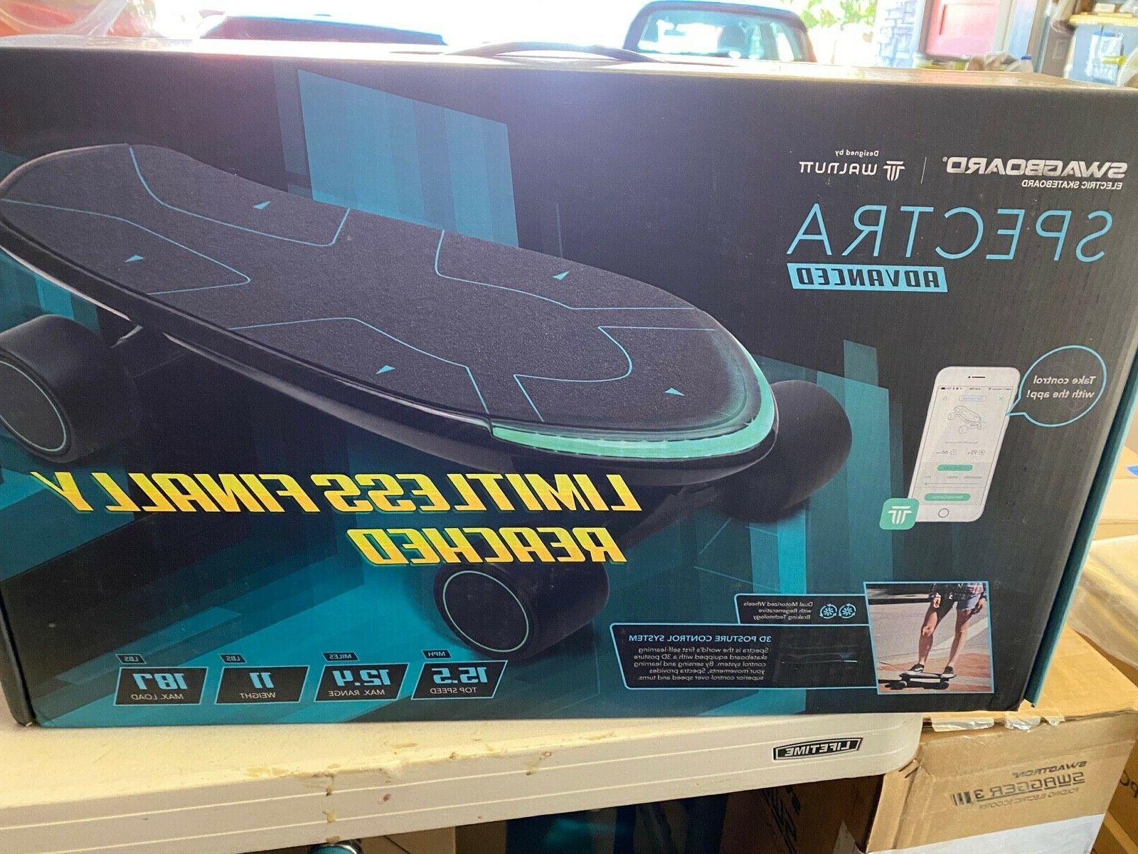 spectra advanced electric skateboard 15 5mph 12
