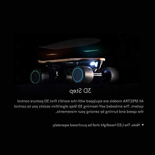WALNUTT Skateboard with 3D Control Hub Maple Board Connectivity Top Speed Range 6.2 Speeds Smart Braking lbs