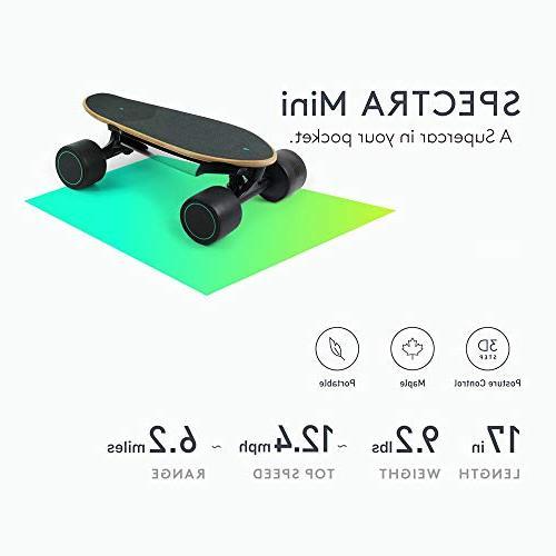 WALNUTT Skateboard with Maple Board Top Range 6.2 Miles Speeds Smart lbs