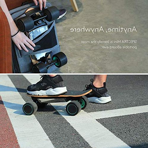 WALNUTT Skateboard with Control Hub Maple Board Bluetooth Connectivity Top Speed Range Miles Varying Speeds Smart Braking lbs