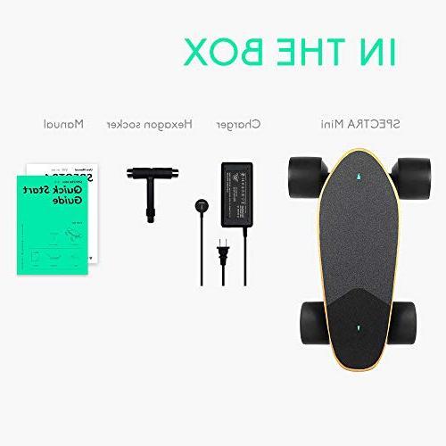 WALNUTT Skateboard 3D Control Motors Boosted Maple Bluetooth Top Speed 12.4 Range Speeds Smart lbs