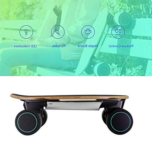WALNUTT Mini Skateboard Control Maple Board Bluetooth Top Speed Range 6.2 Miles lbs