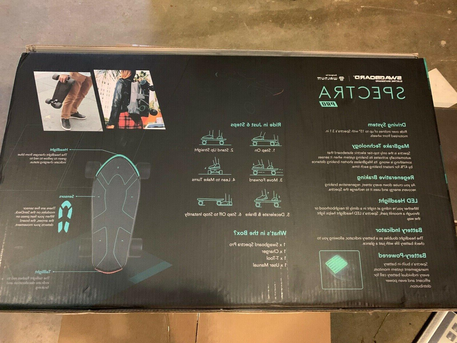 Swagtron Pro Electric Skateboard 12 Charge 15 NEW