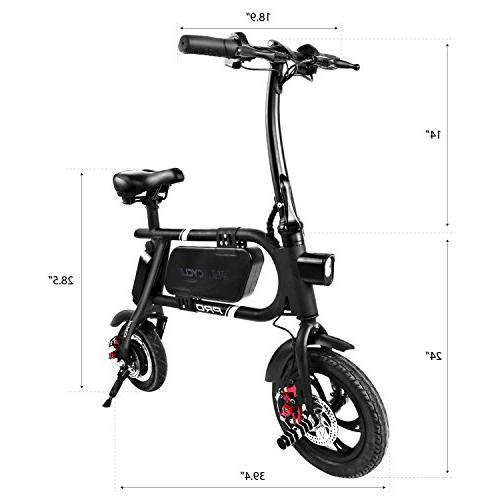 SwagCycle Pro Folding Electric App Enabled, 18 mph E with Port to Charge The Go