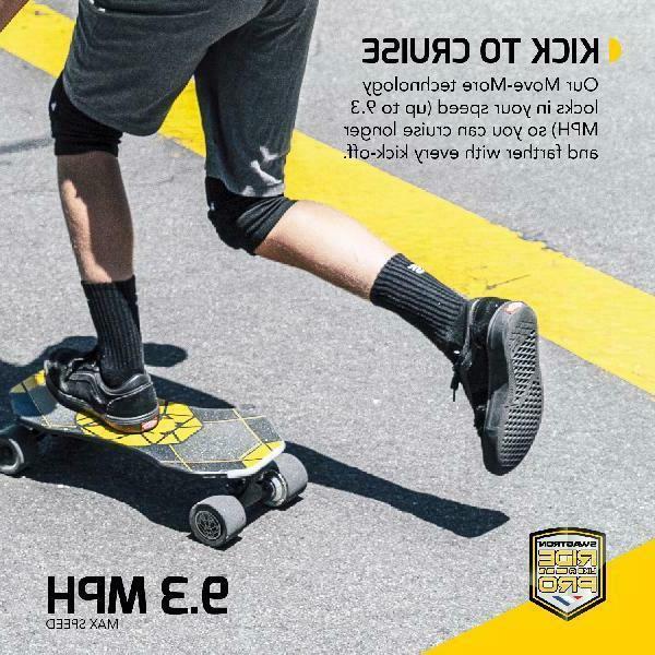 SWAGTRON Electric Skateboard for Kick-Assist Smart Sensors