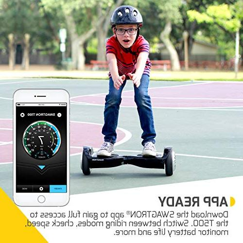 Swagtron T500 Hoverboard Light-Up Wheels, Scooter w/Optional Learning UL2272