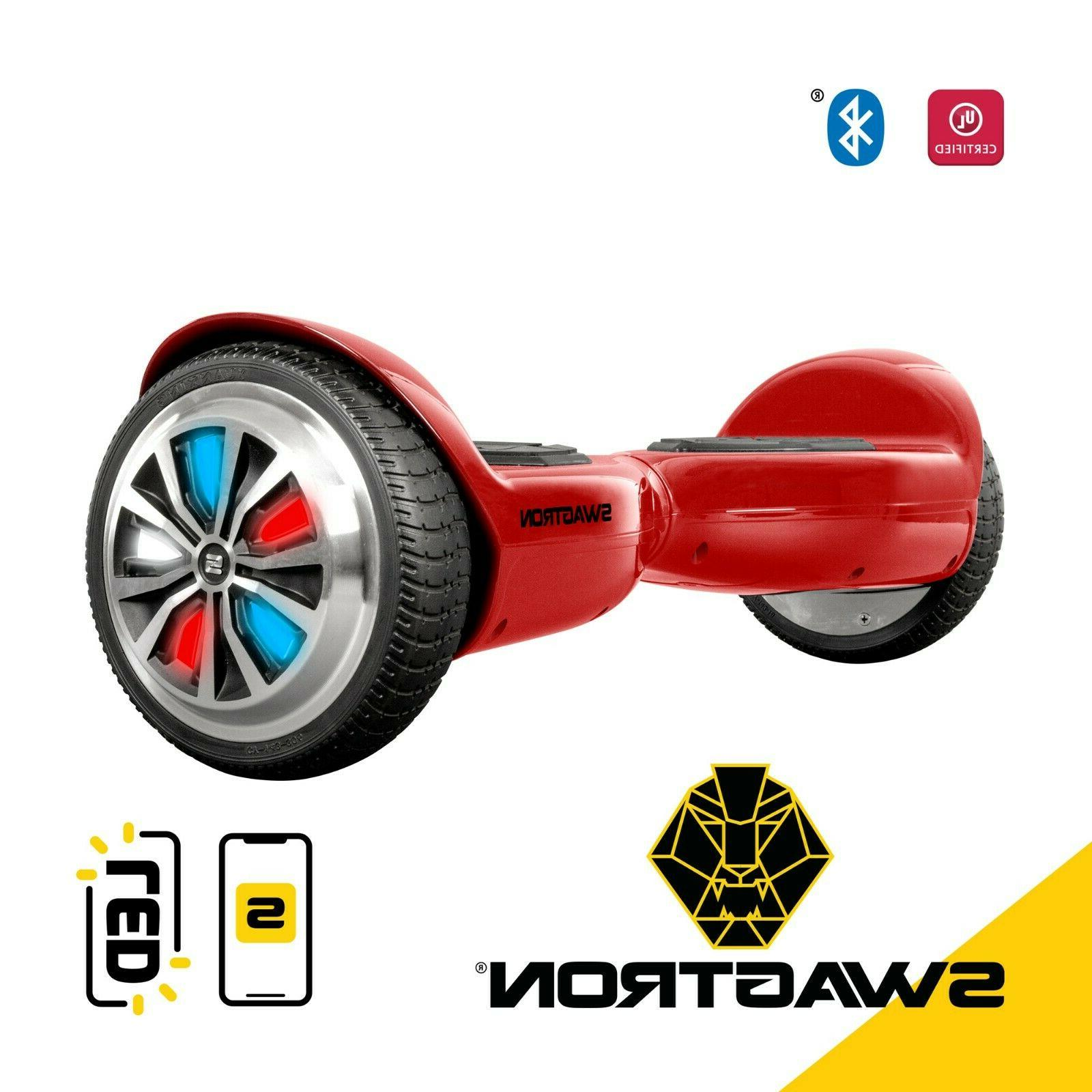 Swagtron T500 App Enabled Bluetooth Hoverboard For Kids Led