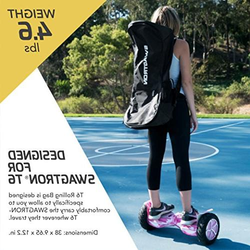 Swagtron T6 Roller Bag –Nylon Hoverboard Case Wheels Backpack Function and Adjustable Straps