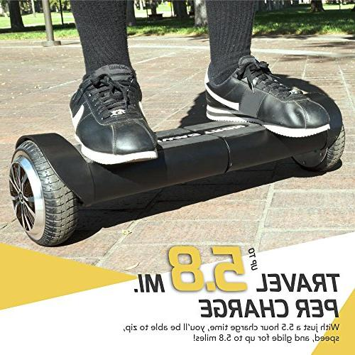 Swagtron T8 Hoverboard Self Metal To 200 Battery , Black, Size