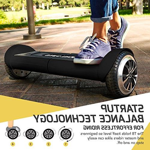 Swagtron 82082-2 T8 Hoverboard Metal Casing Supports Up To Battery Black, One Size